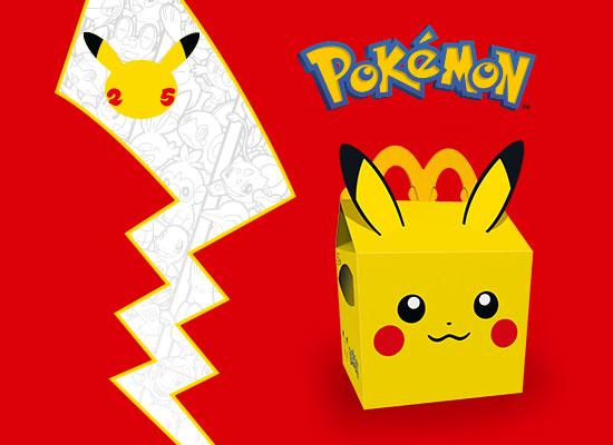 Pokémon fête ses 25 ans dans le Happy Meal™!