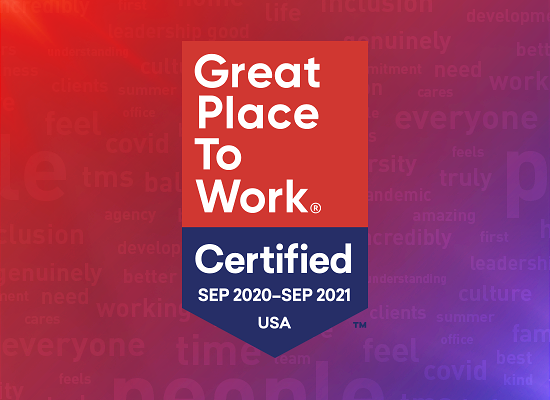 The Marketing Store North America certified by Great Place to Work®